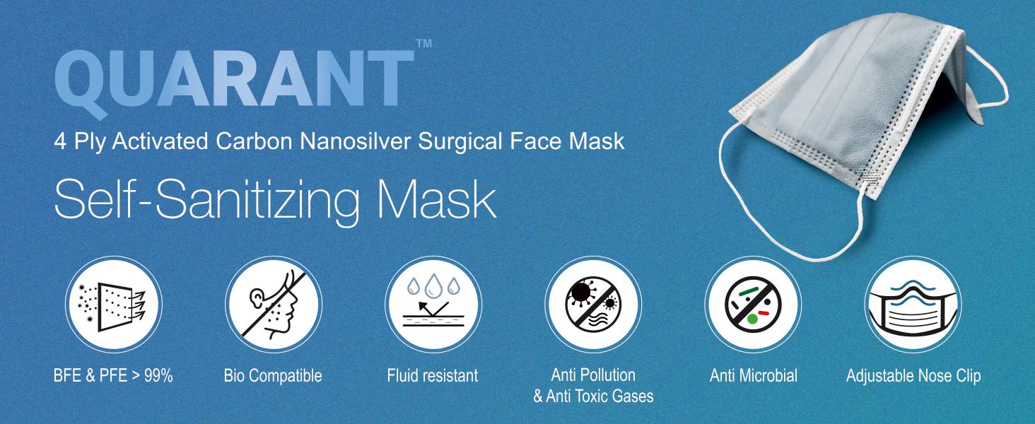 4 ply Nanosilver face mask