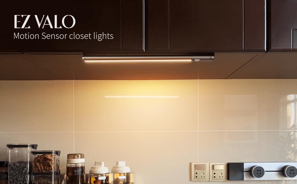 Motion Sensor Light Indoor LED Closet Light Under Cabinet Lighting