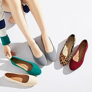 Comfort Low-Heel Ballerina Flat