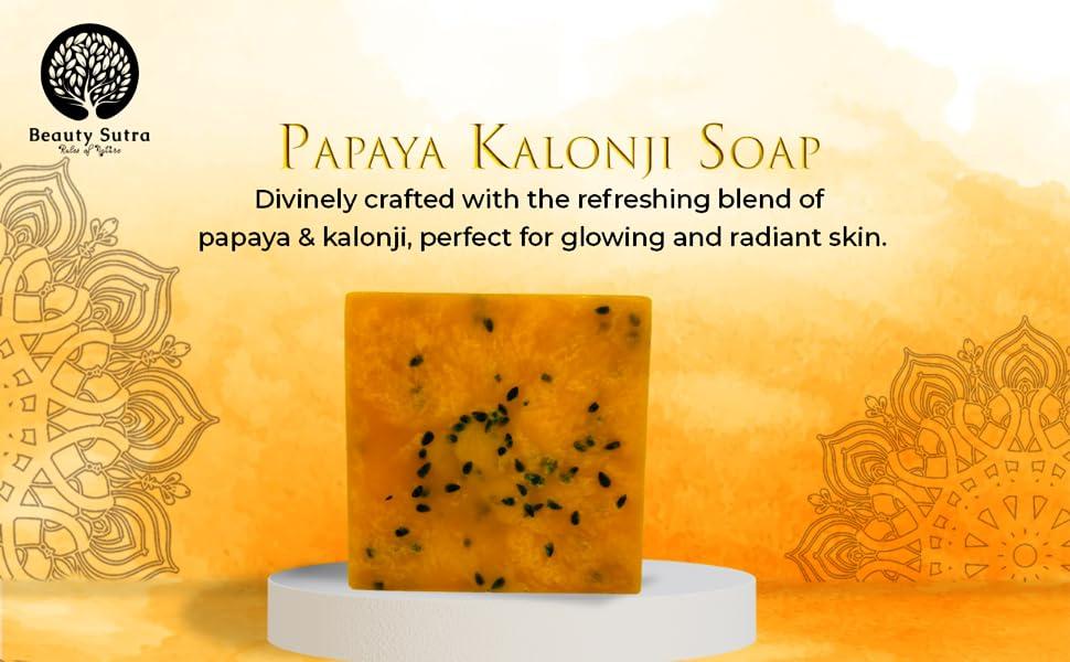 Beauty Sutra Papaya Kalonji Handmade Natural Soap