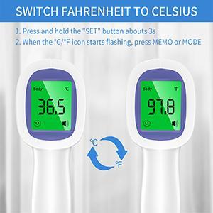 Switch Fahrenheit to Celsius