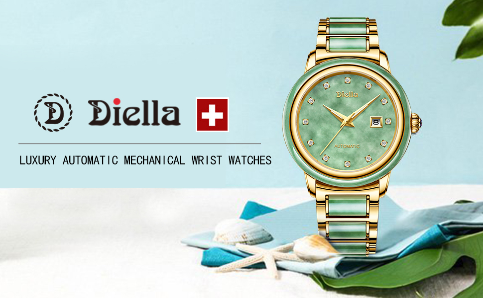 Diella Automatic Mechanical Wrist Watches for Men