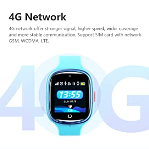 Kids 4G GPS smartwatch wifi device 4g net sim connect wifi for 3-12 years old boys girls phone gift