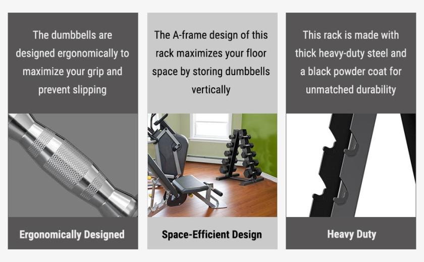 Dumbbell and Rack features