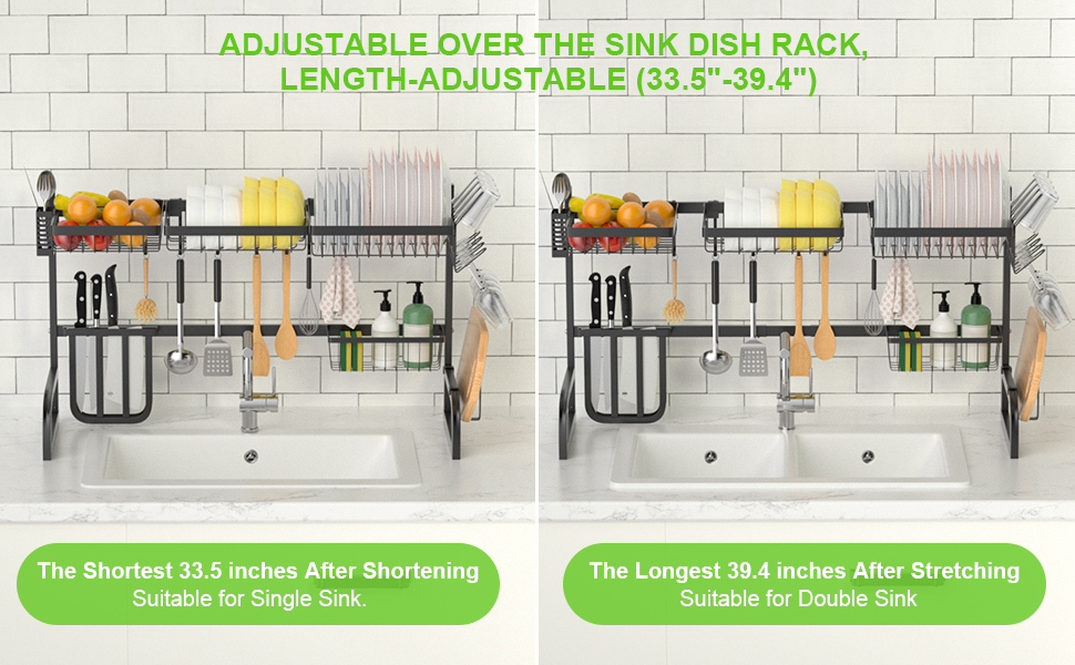 dish drying rack over the sink adjustable