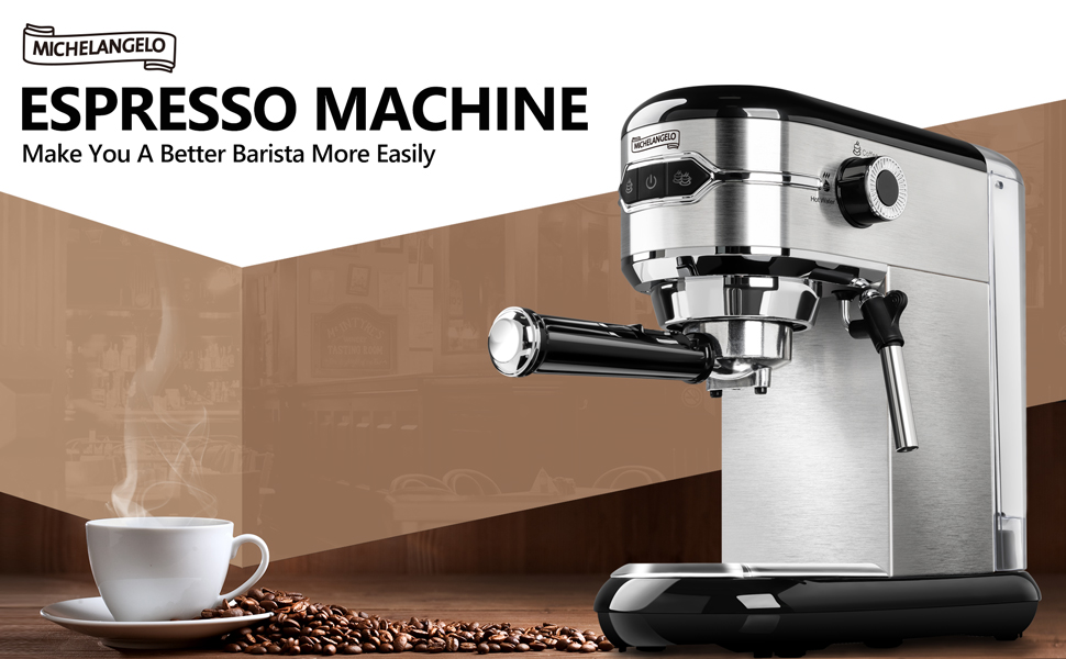 Michelangelo 15 bar espresso machine with milk frother expresso makers for home cappuccino latte