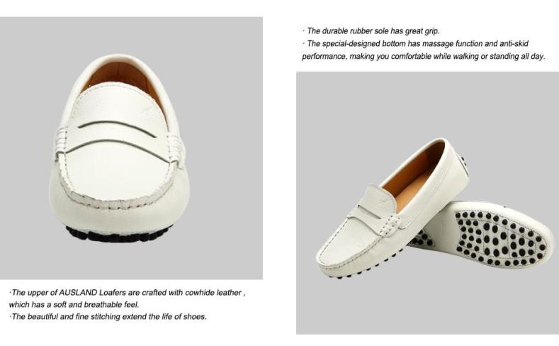 cowhide leather, rubber sole, anti-skid, comfortable