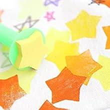 SPECOOL 56 Pezzi Pennelli Spugna per Pittura Set per Bambini