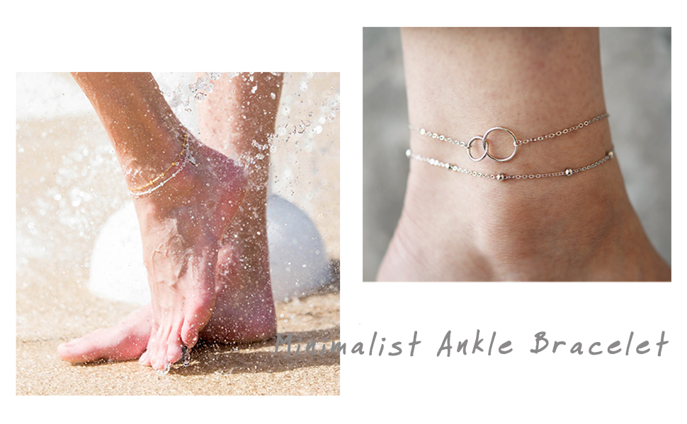 circle ankle bracelet