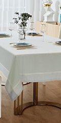 blue green tablecloth