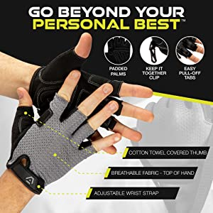 Athletiq Inc Workout Gloves perfect for weight lifting fitness training cross fit cycling gloves