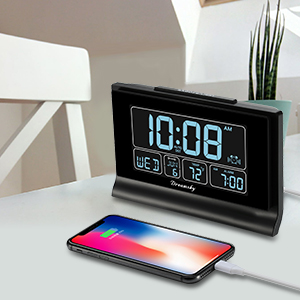alarm clock with usb charging port