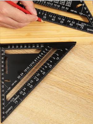 7 Inch Triangle Ruler Square Protractor High Precision Measuring Tool