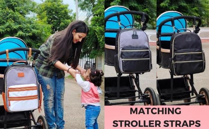 Free 2 Matching Stroller Strap with Baby Diaper Bag Backpack