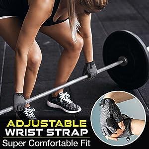 Athletiq Inc Workout Gloves with adjustable wrist strap