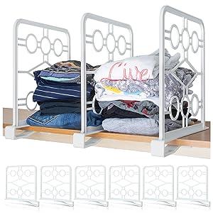 Closet shelf organizer dividers