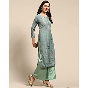 Rajnandini Women's Pure Muslin Embroidered Unstitched Salwar Suit Material