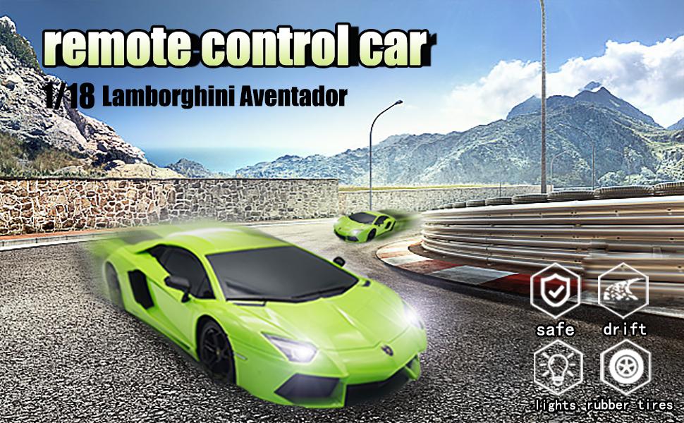 remote control car lamborghini green