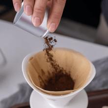 CrossCreek White Ceramic Coffee Dripper with 650ml Glass Server Step 2