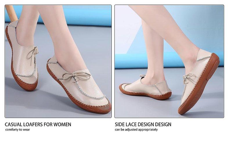 loafer wide width summer comfort waterproof rubber hiking boat support arch walk beige lightweight