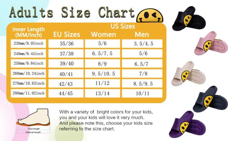 Adults size chart
