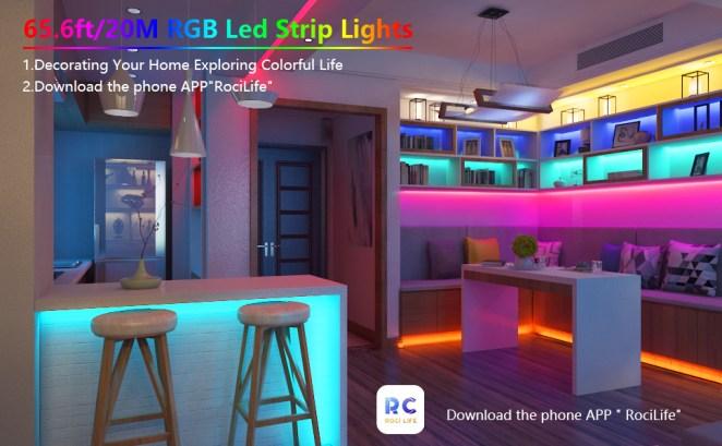 65.6ft/20M RGB Led Strip Lights