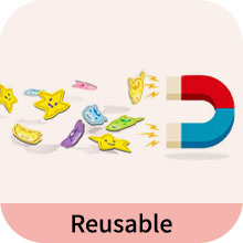 Reusable - putska potty chart comes with removable magnet stickers