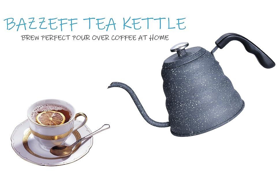 BAZZEFF TEA KETTLE AND LEMON TEA