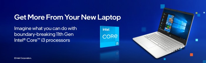 HP 14 (2021) 11th Gen Intel Core i3 Get more from your new laptop