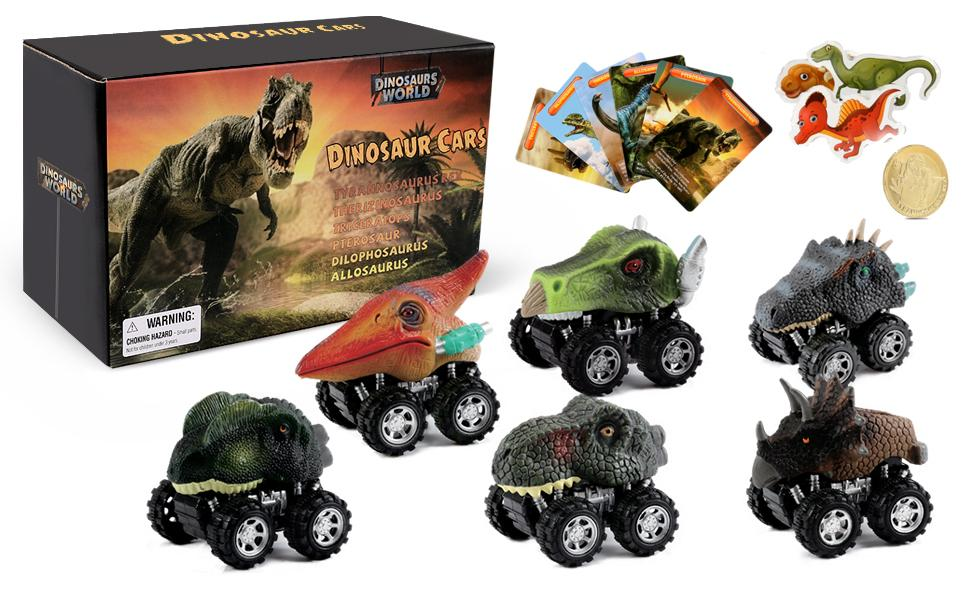 Small Dino Kids Toys Fun Mini T-Rex cars