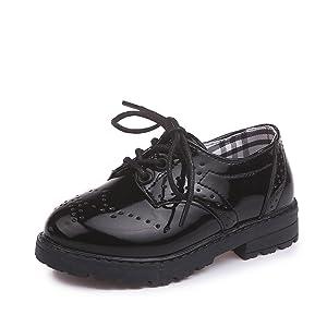 Children's Boy's Girl's Lace-Up School Uniform Shoes Comfort Oxford Dress SHOES