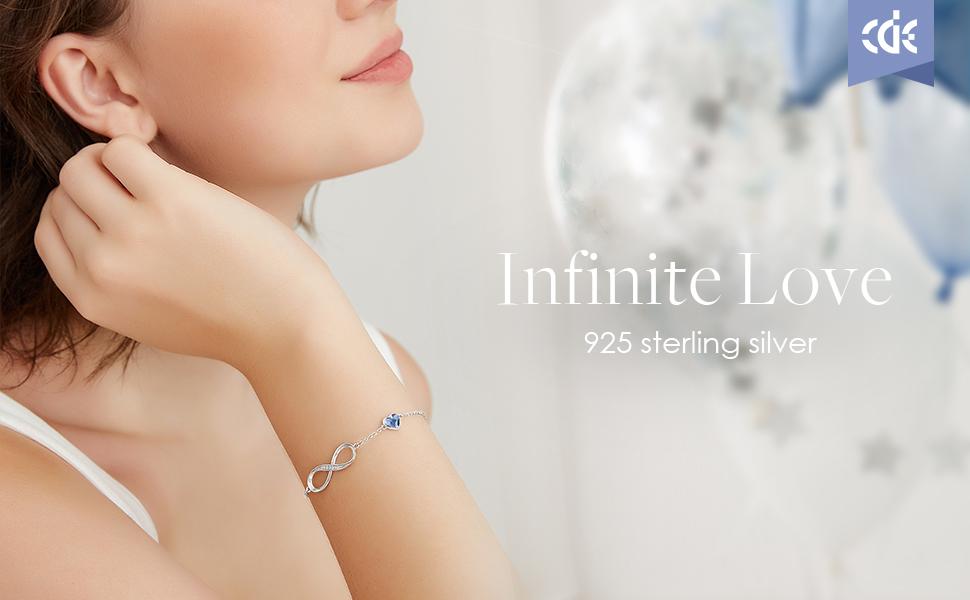Infinity Heart Bracelets