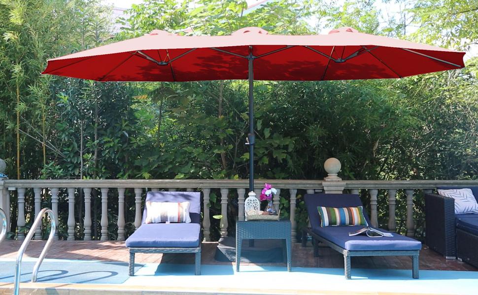large shade umbrella for patio lawn garden