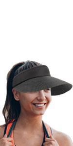 straw visor black