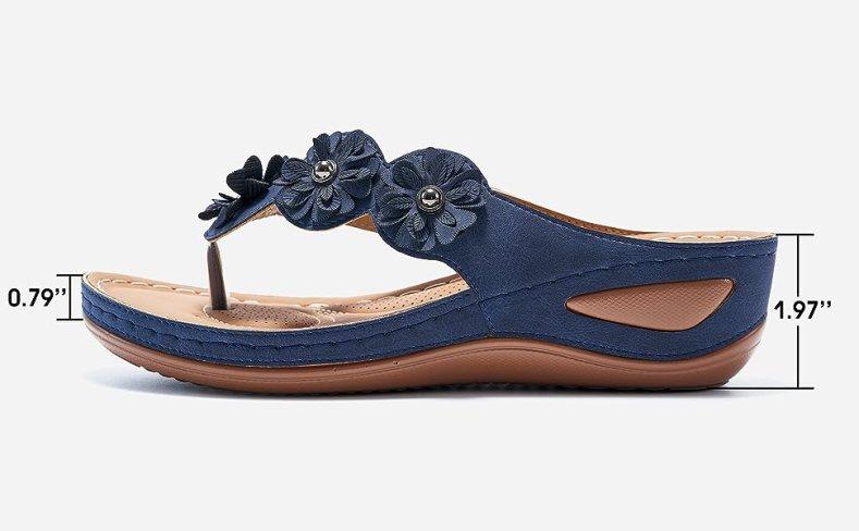 beach summer casual flip flop sandals non-slip sandals flip flops comfort beach leather strap shoes