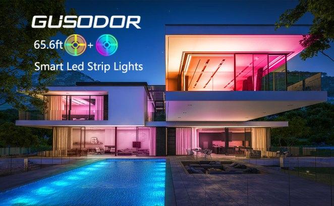 GUSODOR Smart Led Strip Lights 65.6ft