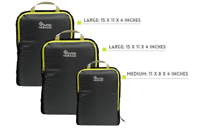 packing cubes set ultralight travel organizer nomad compression bags carry on luggage suitednomad