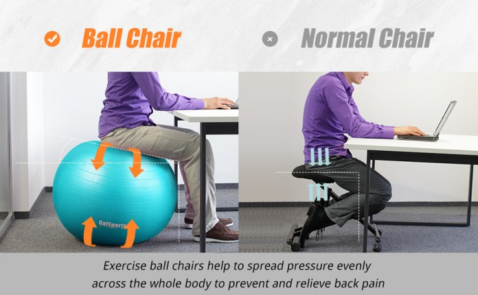 THE benifits of ball chair