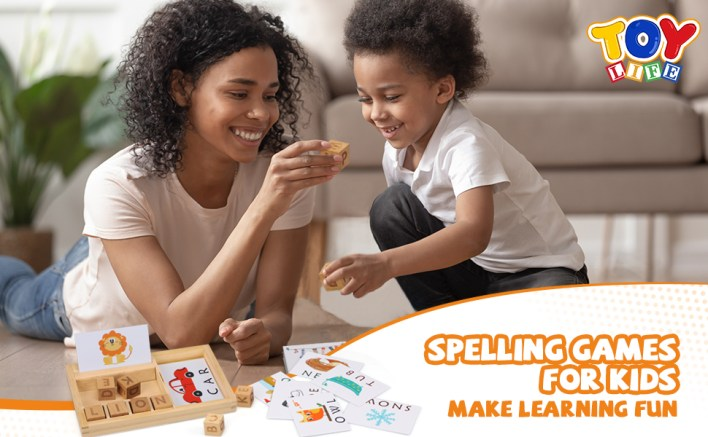 Spelling Games for Kids Ages 3 4 5 6 7 8 - Matching Letter Game for Kids