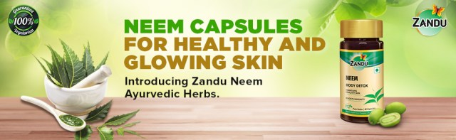 Neem contains antimicrobial properties which helps in fighting bacterial and fungal infections.