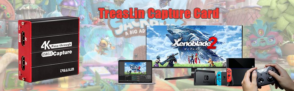 HDMI Capture Card Wii U, PS4, PS3, Xbox One, Xbox 360, Wii, Nintendo Switch