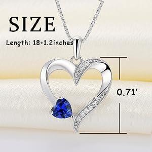 heart necklace love mother pendant earrings for women