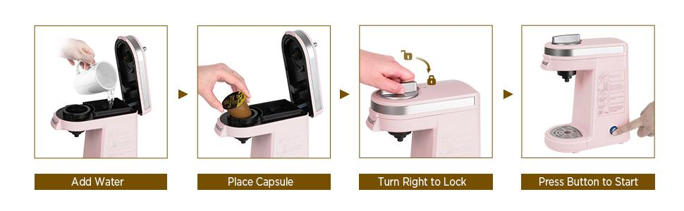 The Steps for Using Coffee Machine