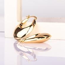Lightweight hoop earrings for women