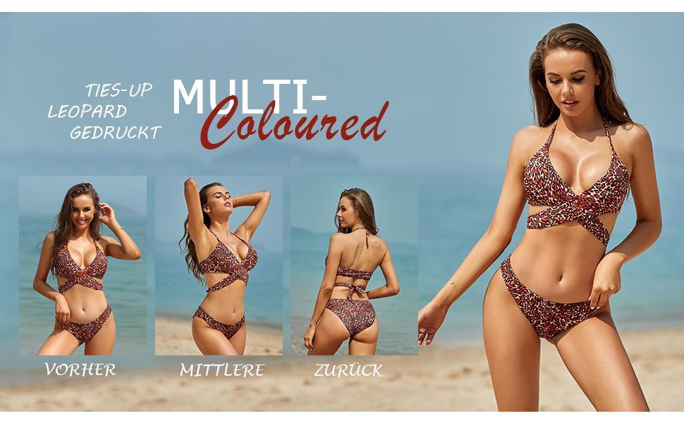 Triangel Gedruckt Niedrige Taille Sport Bikinihose Strandkleidung