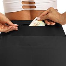 Back Zipper Pocket&Hidden Waistband Pocket