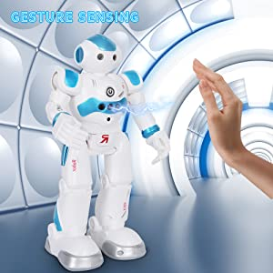 BBdis RC Robot Toy, Gesture Sensing Remote Control Robot for Kids Intelligent Programmable