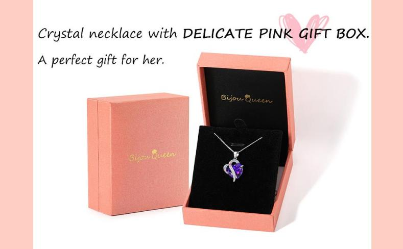 Heart Pendant Necklace for Women Anniversary Mothers Day Birthday Gifts Ideas for Her/Women