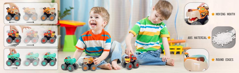 toddler toys age 2-4 boy monster truck