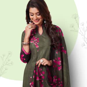 Miraan women's cotton unstitched dress material(BRAND1811, Multicolour, Free size) SPN-FOR1